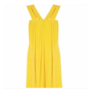 Alice + Olivia Yellow Silk Mini Dress Small